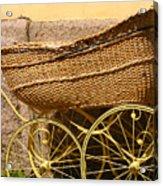 Ancient Swedish Baby Carriage Acrylic Print