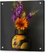 Ancient Vase And Flowers Acrylic Print