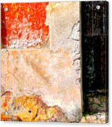 Ancient Wall 4 By Michael Fitzpatrick Acrylic Print