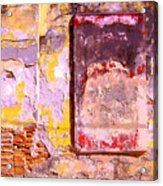 Ancient Wall 7 By Michael Fitzpatrick Acrylic Print