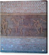 Ancient Wall Carving Acrylic Print by Joni Mazumder