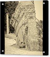 Ancient Wall Of Ostia Antica Acrylic Print