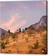 Andalucian Landscape Near Zahara De La Sierra Spain Acrylic Print