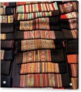 Andean Textile Market Acrylic Print
