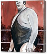Andre The Giant Acrylic Print by Dave Olsen