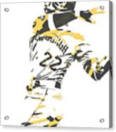 Andrew Mccutchen Pittsburgh Pirates Pixel Art 1 Acrylic Print