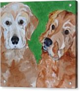 Andy And Max Acrylic Print