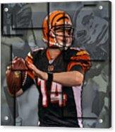 Andy Dalton Cincinnati Bengals Blocks Acrylic Print