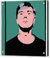 Andy Warhol Self Portrait 1964 On Green - High Quality - Stamp Edition 2012 Acrylic Print