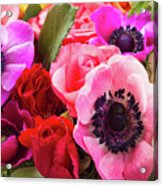 Anemones And Roses Acrylic Print