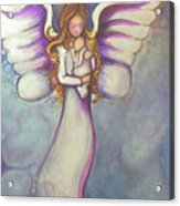 Angel And Baby Acrylic Print