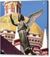 Angel And Cathedral Acrylic Print
