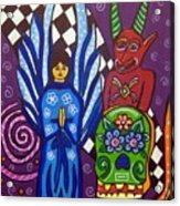 Angel And Devil-day Of The Dead Acrylic Print