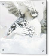 Angel And Dove Acrylic Print