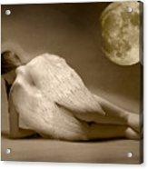 Angel And Moon Acrylic Print