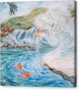 Angel And The Fishes  Flying-lamb-productions  Acrylic Print