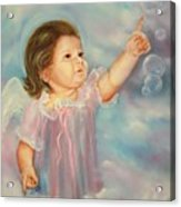 Angel Baby Acrylic Print by Joni McPherson