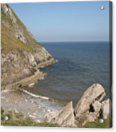 Angel Bay. Little Orme.  Acrylic Print