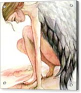Angel Bowed Acrylic Print