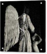 Angel Bw Acrylic Print