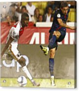 Angel Di Maria Shoot The Ball Acrylic Print