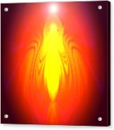 Angel-energy-healing Acrylic Print by Ramon Labusch