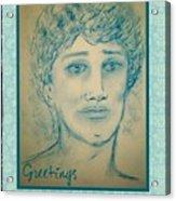 Angel Greetings Acrylic Print