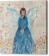 Angel In Blue Acrylic Print