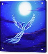 Angel In Blue Starlight Acrylic Print