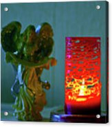 Angel In Candle Light Acrylic Print