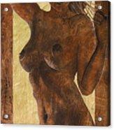 Angel In Gold Acrylic Print