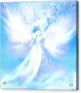 Angel In Hotty Totty In Thick Paint Acrylic Print