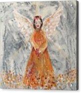 Angel In Orange Acrylic Print