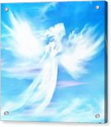 Angel In Thick Paint Acrylic Print