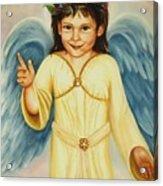 Angel In Yellow Acrylic Print