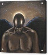 Angel Noir Acrylic Print by L Cooper