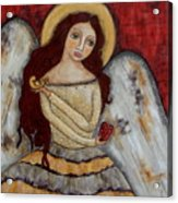 Angel Of Kindness Acrylic Print by Rain Ririn
