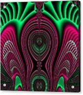 Angel Of Lifes Aura Fractal 114 Acrylic Print