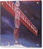 Angel Of The North Christmas Acrylic Print