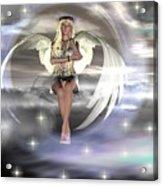 Angel On A Cloud Acrylic Print