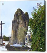 Angel On Graveyard Acrylic Print