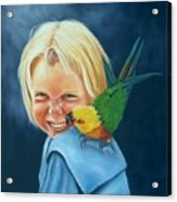 Angel On My Shoulder Acrylic Print