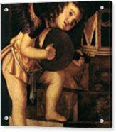 Angel Playing Music Acrylic Print