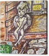 Angel Protecting Home Acrylic Print