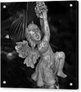 Angel Statue Hanging On Acrylic Print