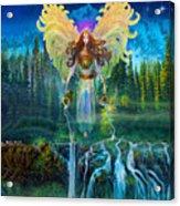 Angel Tarot Card Archangel Jophiel  Acrylic Print