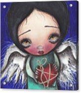 Angel With Heart Acrylic Print