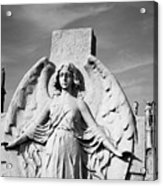 Angel With Outspread Wings And Other Angels In The Background Acrylic Print