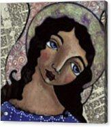 Angel With Purple Eyes Acrylic Print