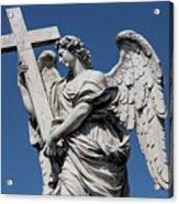 Angel With The Cross Acrylic Print